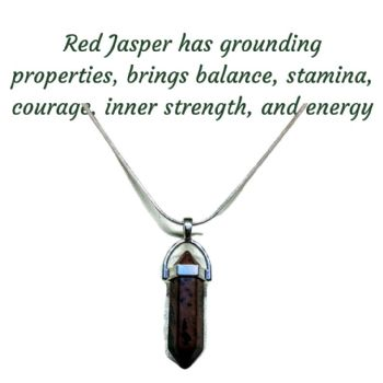 Red Jasper Gemstone Pendant